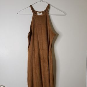 💛 Bozzolo Halter Top Dark Khaki Mini Dress
